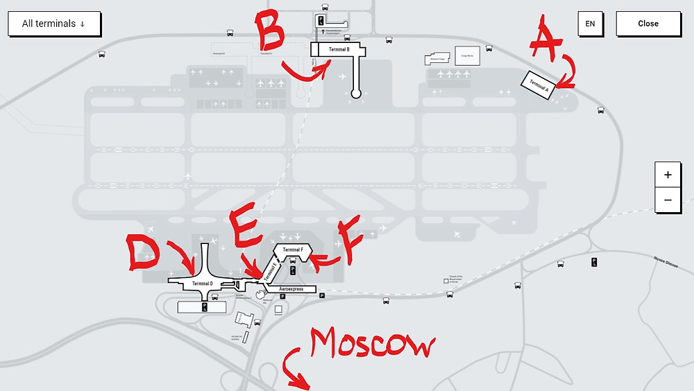 Sheremetyevo International Airport Map