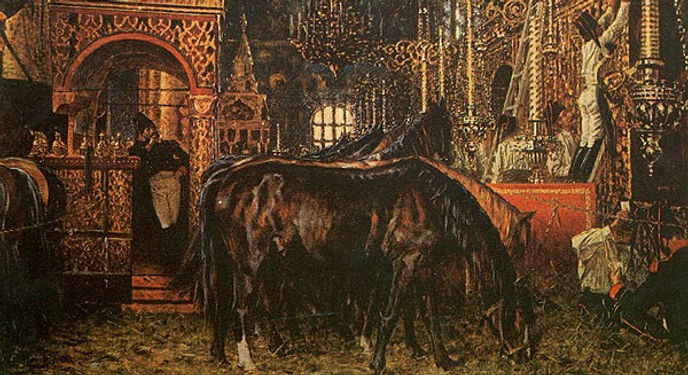 Napoleon's horse stables inside Assumpti