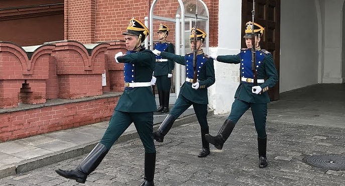 Changing of the guards at the Trinity to