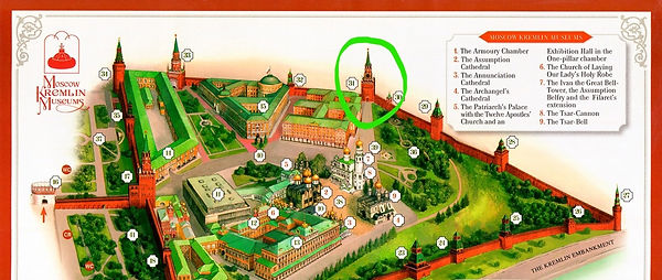 Map of the Moscow Kremlin with exits 02