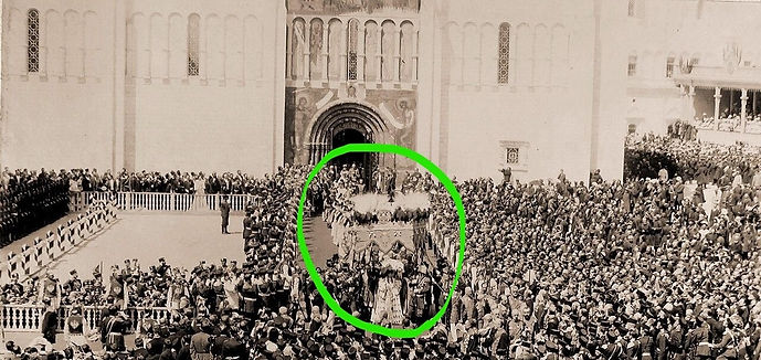 Nicholas II exiting Assumption Cathedral