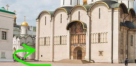 Entrance to Assumption Cathedral of Mosc