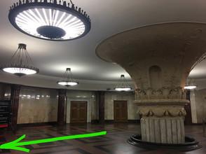 Route to Kurskaya station's entrance lob