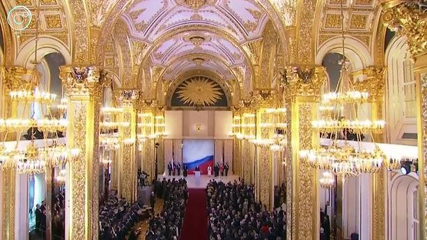 Putin under the All-seeing eye during hi