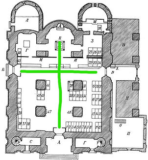 Plan of Archangel Cathedral in Moscow Kr