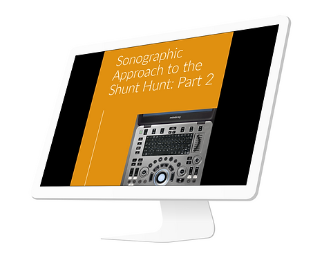 Sonographic Approach to the Shunt Hunt: Part 2