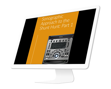 Sonographic Approach to the Shunt Hunt: Part 1