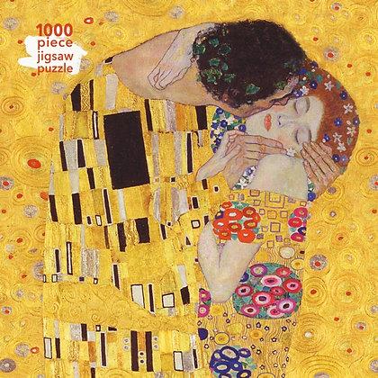Adult Jigsaw Puzzle Gustav Klimt: The Kiss : 1000-piece Jigsaw Puzzle