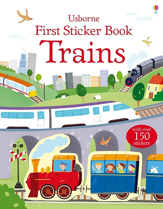 First Sticker Book Trains by Dan Crisp