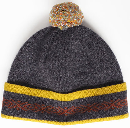 Pom Pom Hat - 100% Lambs Wool