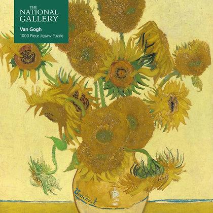 Adult Jigsaw Puzzle National Gallery: Van Gogh, Sunflowers : 1000-piece jigsaw
