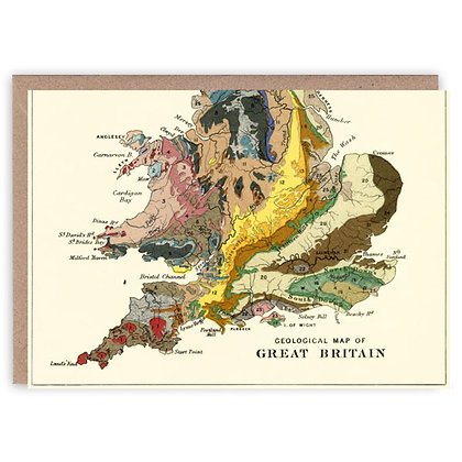 Geographical Map of Great Britain