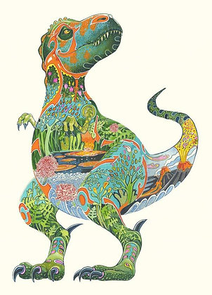 Greetings Card - T Rex