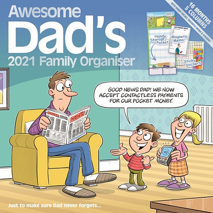 Awesome Dads Family Organiser Square Wall Planner Calendar 2021