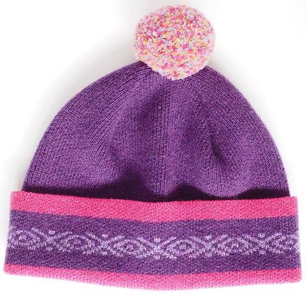 Pom Pom Hat - 100% Lambswool