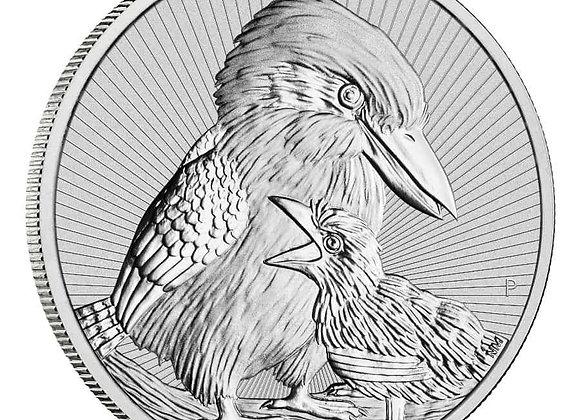 2020 2 oz $2 AUD Australian Silver Kookaburras Piedfort Coin BU
