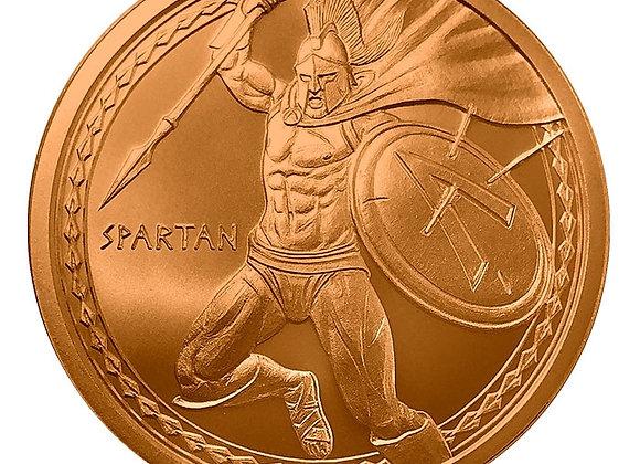 Spartan 1 oz Copper Round | Warrior Series