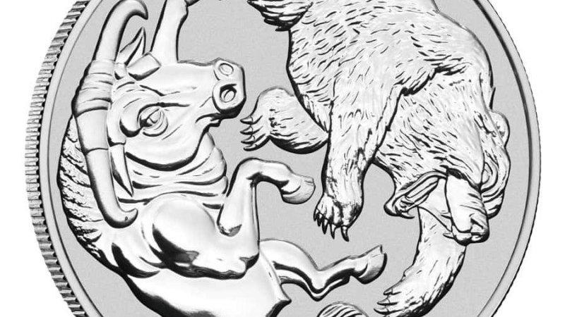 Perth Mint 1 oz silver BEAR & BULL 2020 Australia $1