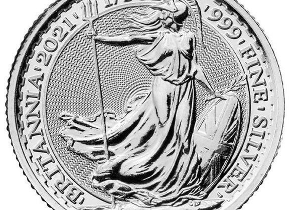 2021 1/4 oz Silver Britannia England United Kingdom 2021