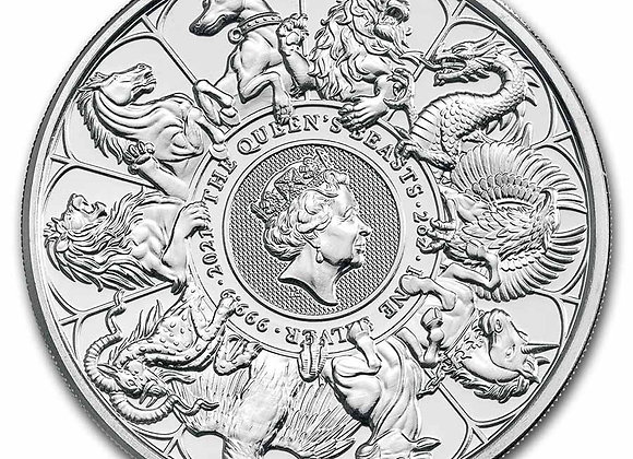 2021 Great Britain 2 oz Silver Queen's Beasts Collector Coin with cap PRE-ORDER