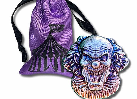2 oz .999 Fine Silver - Monarch 3D Art Bar - Evil Clown with Gift Bag