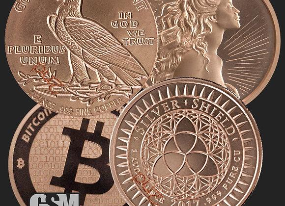 1 oz Copper Bullion Random Design -Golden State Mint