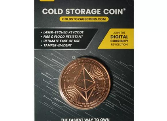 1 oz Etherium Cold Storage Wallet Copper Round (New)