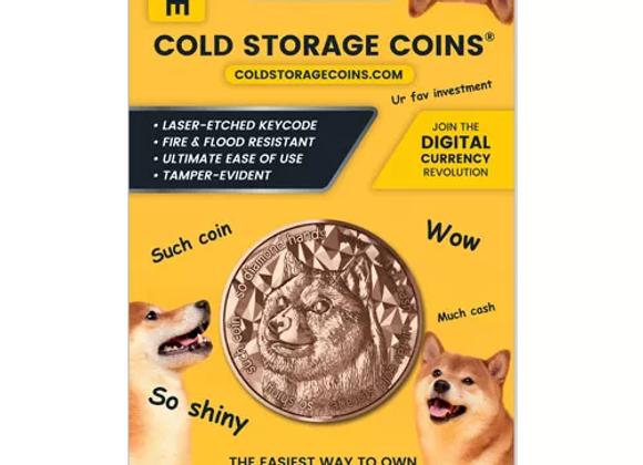 1 oz Doge Cold Storage Wallet Copper Round (New)