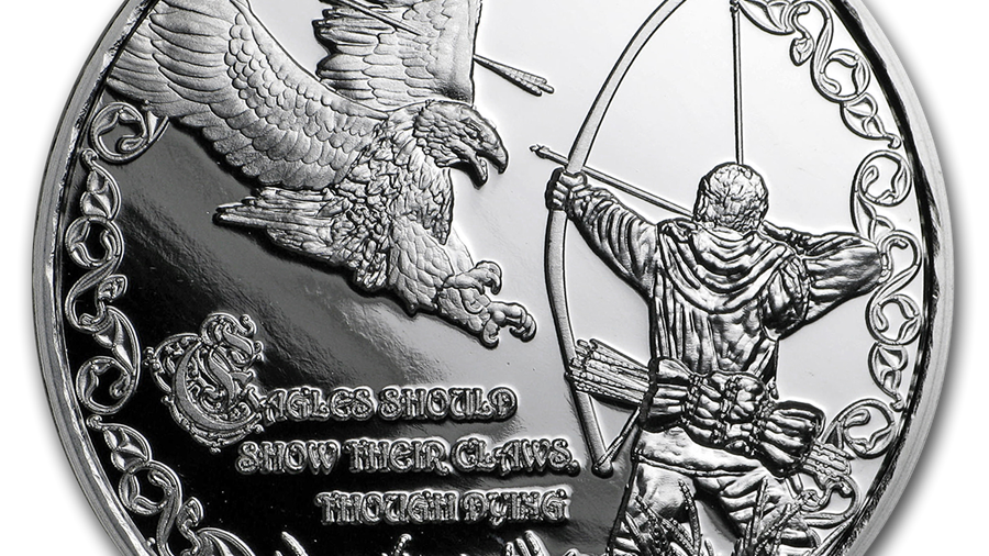 1 oz Silver Proof Round - Viking Proverbs Series: Eagle's Claws #3