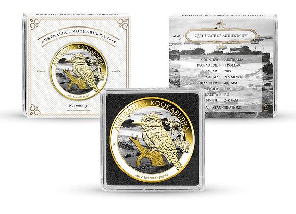 Silverstan D-Day 75th Anniversary 2019 Kookaburra 1 OZ Silver Coin .999