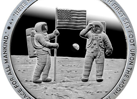 1 oz Apollo 11 For All Mankind Silver Round (Proof-Like, New)