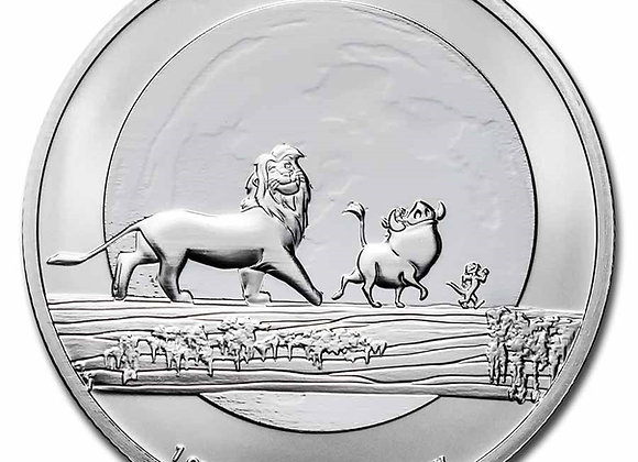 2021 Niue 1 oz Silver $2 Disney Lion King Hakuna Matata BU