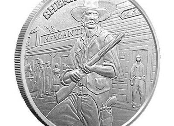 1 oz Silver Prospector Series Sheriff Round