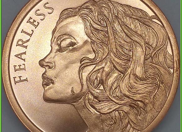 2019 1oz Fearless Silver Shield Copper BU Conscientia Series #10