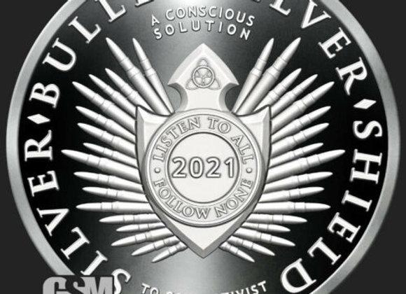 "2021 Silver Shield SILVER BULLET/SILVER SHIELD - 1oz Proof - #3 ""Apocalyptomyst"""