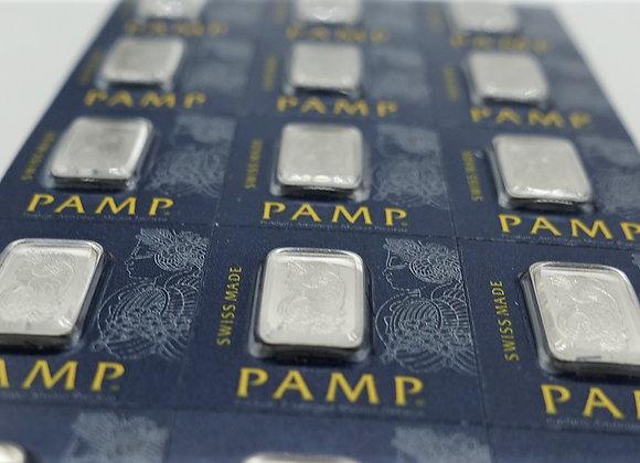 1 gram Platinum Bar PAMP Suisse Lady Fortuna .9995 Fine
