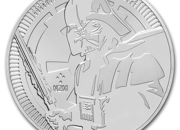 2019 Niue 1 oz Silver $2 Star Wars: Darth Vader BU