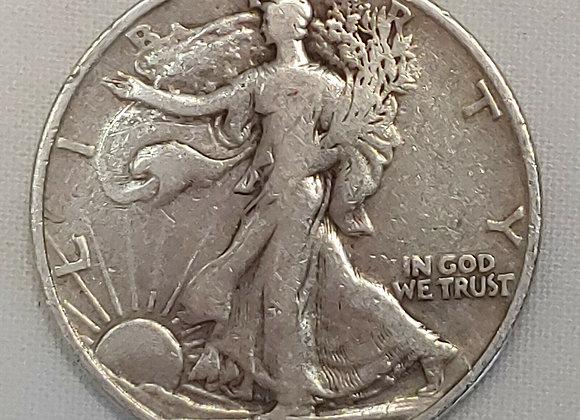 90% US Walking Liberty Silver Half Dollars