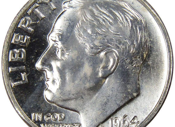 90% Silver Roosevelt Dimes Brilliant Uncirculated (BU) x 10