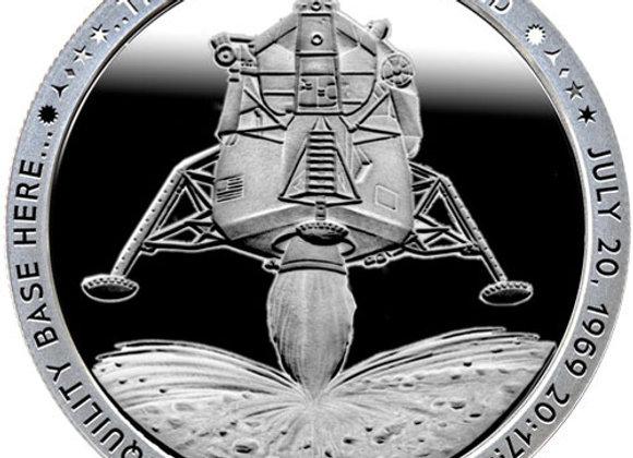 1 oz Apollo 11 Eagle Landing Silver Round (Proof-Like, New)