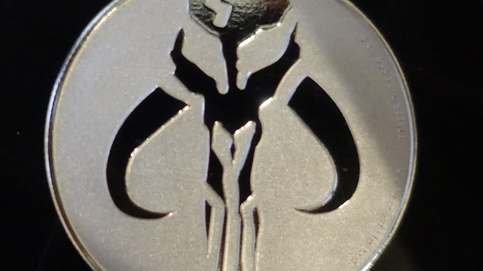 1 oz silver STAR WARS 2020 MANDALORIAN MYTHOSAUR $2 BU