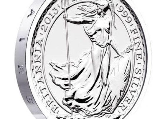 2013 S.S. Gairsoppa Silver Britannia Coins 1/4 BU