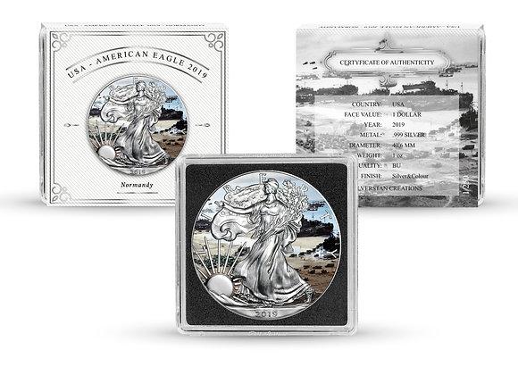 Silverstan D-Day 75th Anniversary 2019 American Silver Eagle 1 OZ Silver Coin