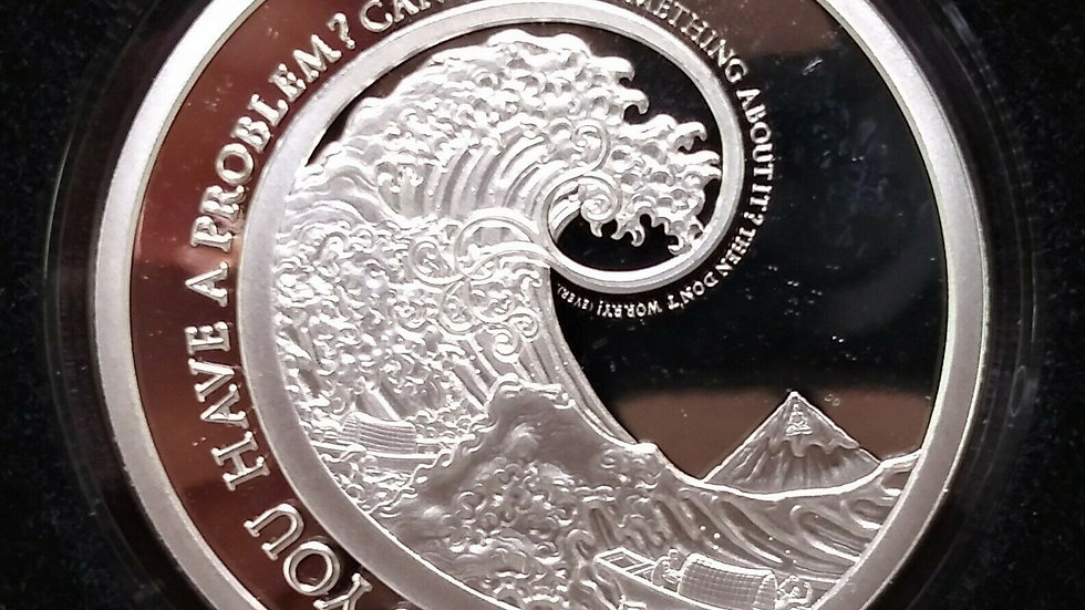 SILVER SHIELD 2019 Don't Worry Mini Mintage 1oz Silver Proof Round w/COA
