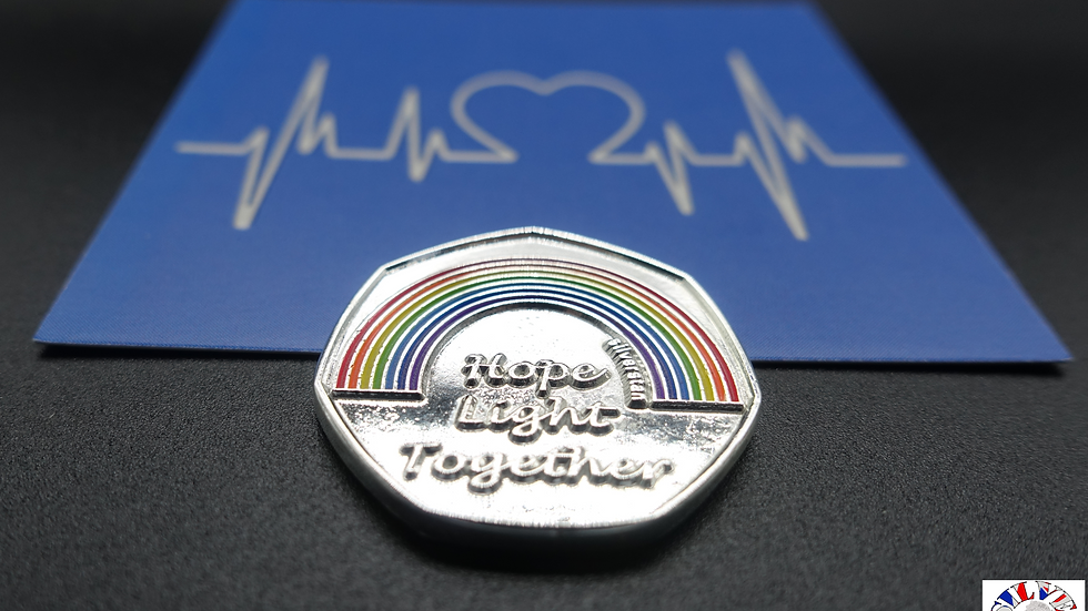 silverstan N-H-S Charities Together 50P themed NHS Coin