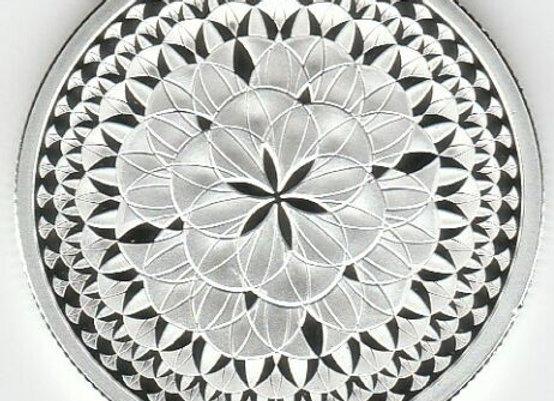 Silver Proof Round 2021 Flower Eternal Silver Shield BOX COA