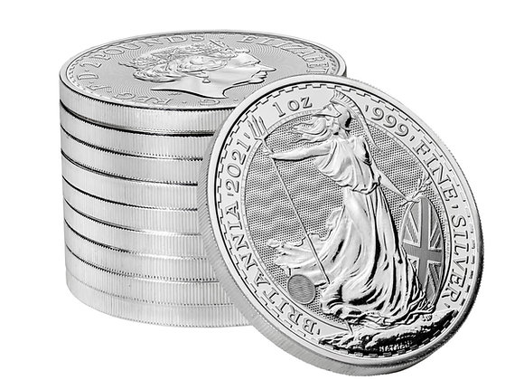 1 oz silver BRITANNIA 2021 .999 Fine Royal Mint With Capsule