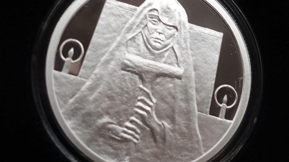 2020 Silver Shield Death 1oz  .999 Silver Proof MiniMintage W/ COA & Box