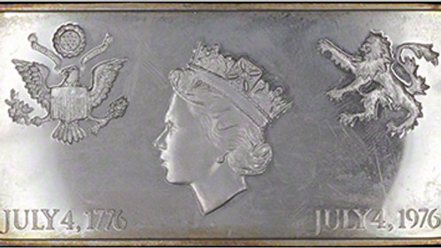 1976 Queen Elizabeth II 200th Anniversary of US Independence  Silver Proof Stamp