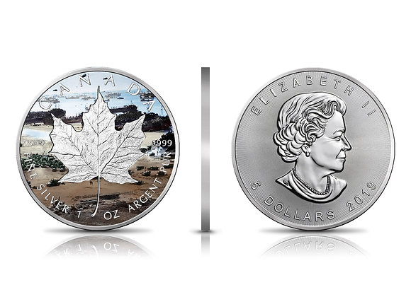 Silverstan D-Day 75th Anniversary 2019 Maple Incuse 1 OZ Silver